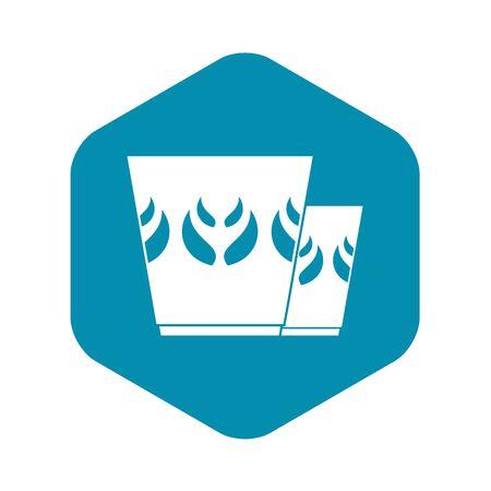 Mug icon, simple style