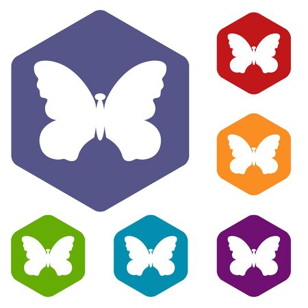Butterfly with beautiful wings icon in simple style isolated on white background. Insect symbol