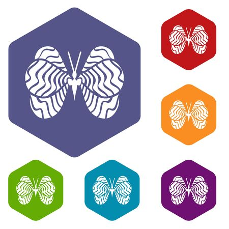 Little butterfly icon in simple style isolated on white background. Insect symbol