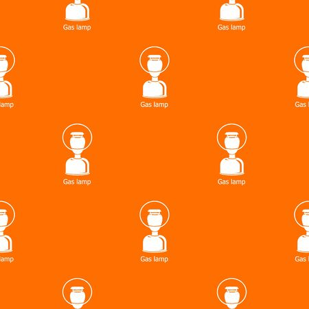 Gas lamp pattern vector orange for any web design best