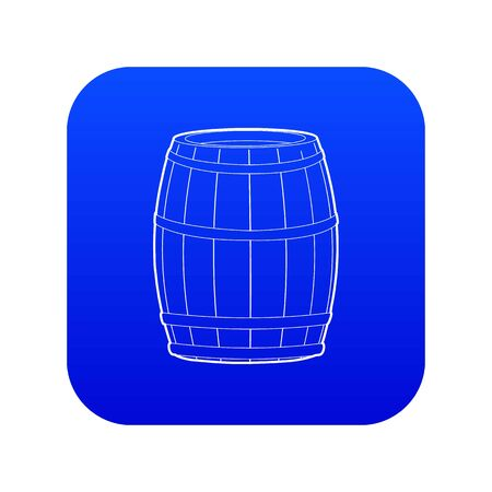 Wine barrel icon blue vector Illustration