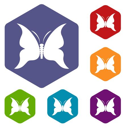 Big butterfly icon in simple style isolated on white background. Insect symbol