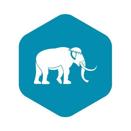 Icono de mamut, estilo simple Ilustración de vector