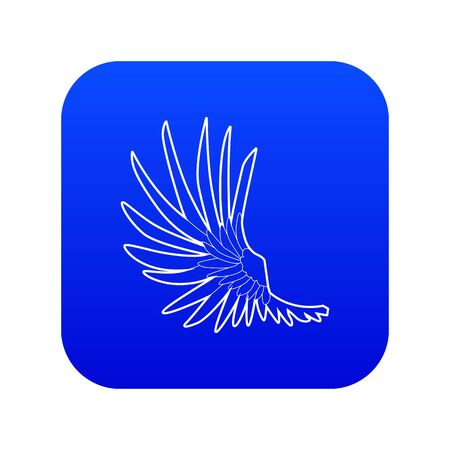 Wide wing icon blue vector