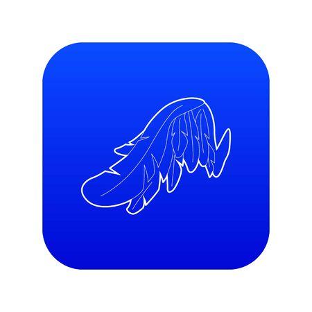 Angel wing icon blue vector Ilustração
