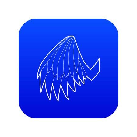 Angelic wing icon blue vector