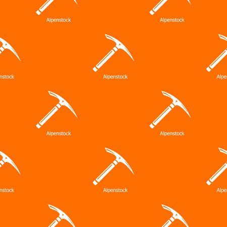 Pickaxe pattern vector orange for any web design best