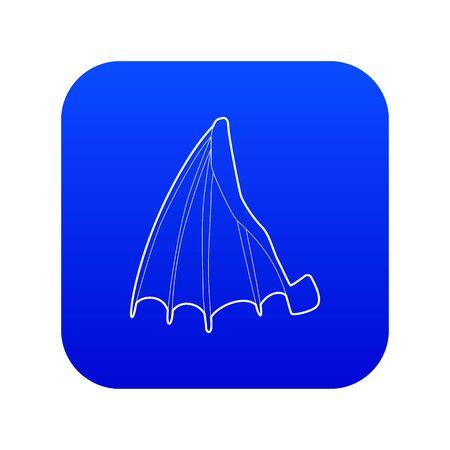 Big wing icon blue vector