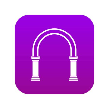 Arch icon digital purple