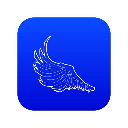 Bird big wing icon blue vector  イラスト・ベクター素材
