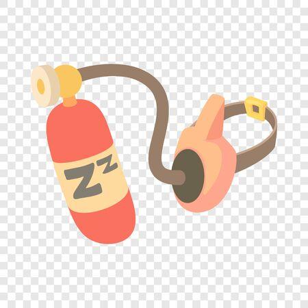 Oxygen mask icon. Cartoon illustration of oxygen mask vector icon for web