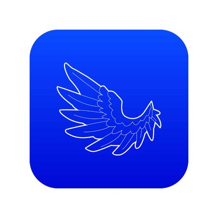Angel wing icon blue vector  イラスト・ベクター素材