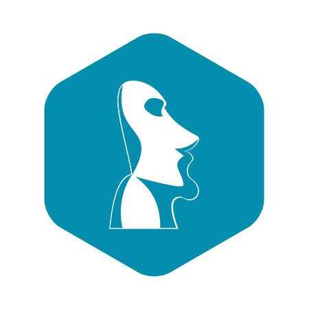 Easter island icon, simple style