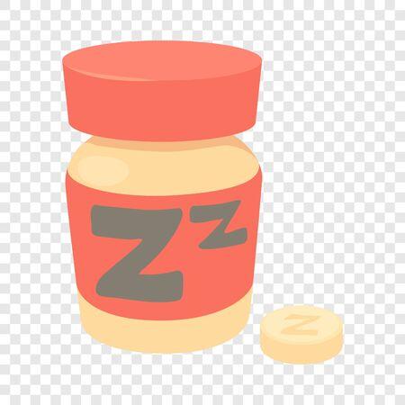 Sleeping pills icon, cartoon style Ilustrace