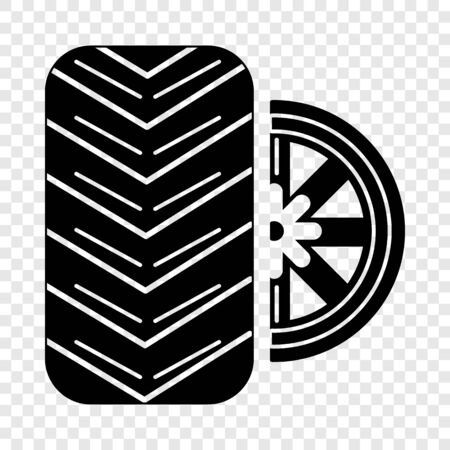 Tire icon. Simple illustration of tire vector icon for web