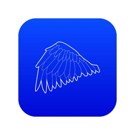 Goose wing icon blue vector  イラスト・ベクター素材