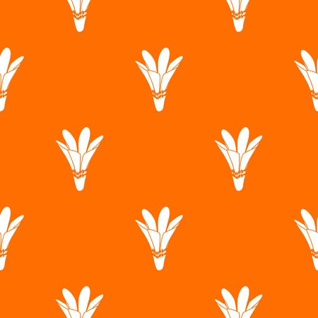 Nature flower pattern vector orange for any web design best