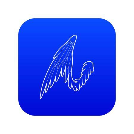 Bird wing icon blue vector  イラスト・ベクター素材
