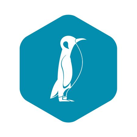 Penguin icon, simple style