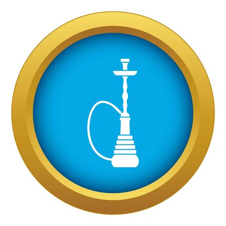 Hookah icon blue vector isolated on white background for any design