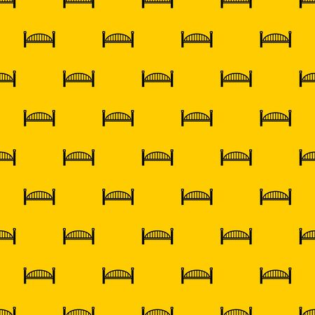 Modern arch bridge pattern seamless vector repeat geometric yellow for any design