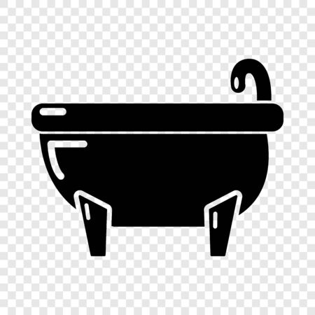 Bathtub icon. Simple illustration of bathtub vector icon for web