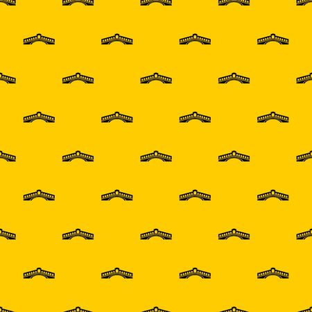 Rialto bridge pattern seamless vector repeat geometric yellow for any design