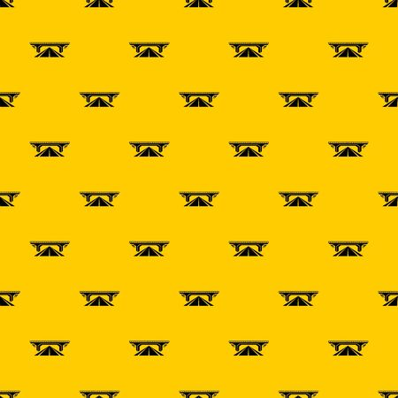 Concrete bridge pattern seamless vector repeat geometric yellow for any design