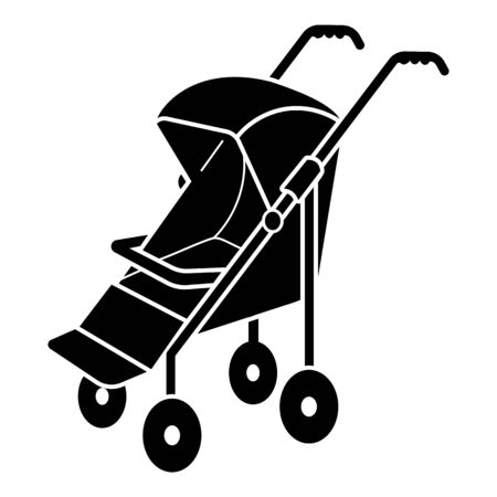 Modern small stroller icon. Simple illustration of modern small stroller vector icon for web design isolated on white background