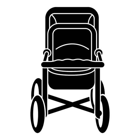 Parent baby stroller icon. Simple illustration of parent baby stroller vector icon for web design isolated on white background