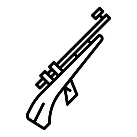 Biathlon rifle icon, outline style