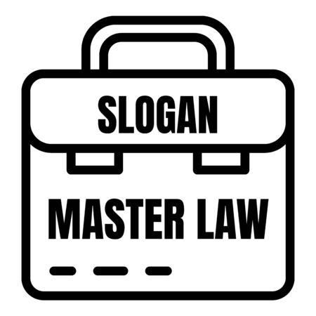 Master law icon, outline style