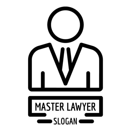 Master lawyer icon, outline style