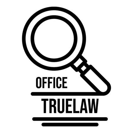 Office truelaw icon, outline style Reklamní fotografie - 128302995