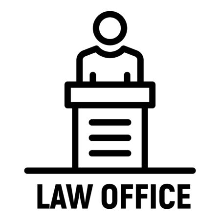 Law office icon, outline style Illusztráció