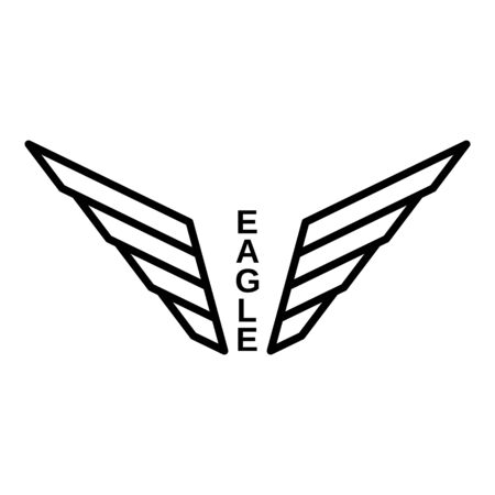 Eagle, outline style