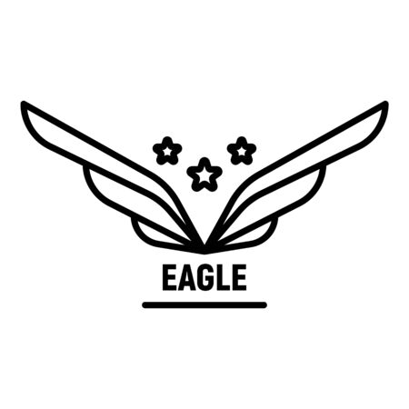 Star wings, outline style Illustration