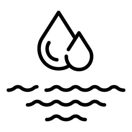 Water drop flood icon. Outline water drop flood vector icon for web design isolated on white background