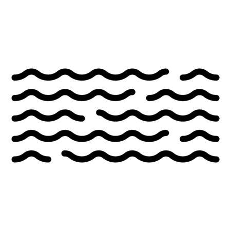 Big water flood icon, outline style Illusztráció