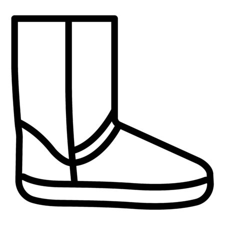 Ugg boot icon, outline style