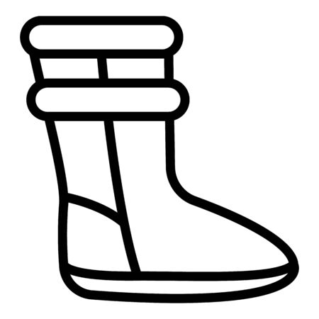 Woman ugg boot icon, outline style