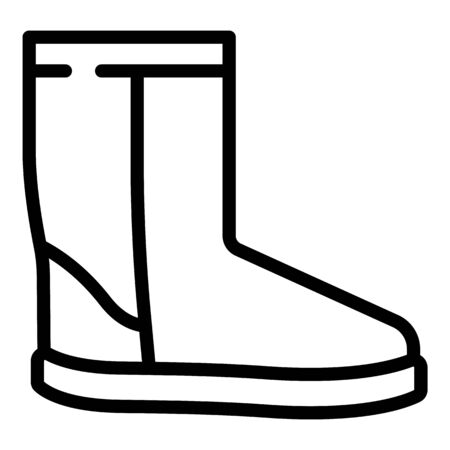 Winter ugg boot icon, outline style