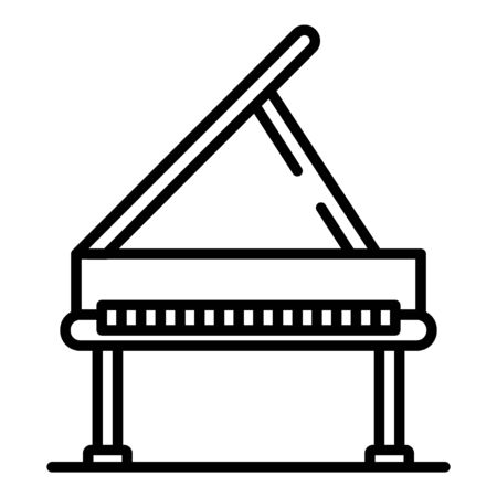 Open grand piano icon. Outline open grand piano vector icon for web design isolated on white background
