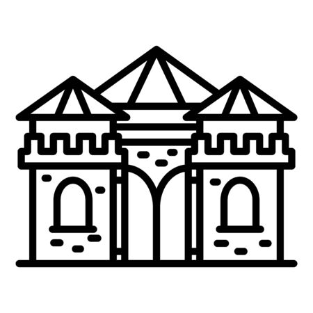 Castle excursion icon, outline style  イラスト・ベクター素材