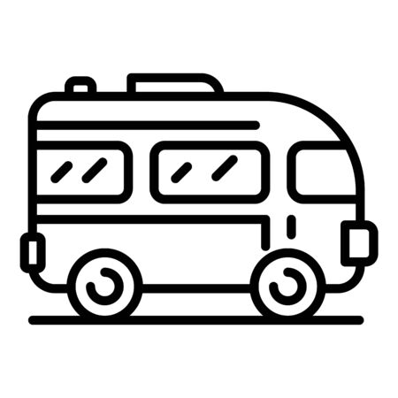Excursion bus icon. Outline excursion bus vector icon for web design isolated on white background