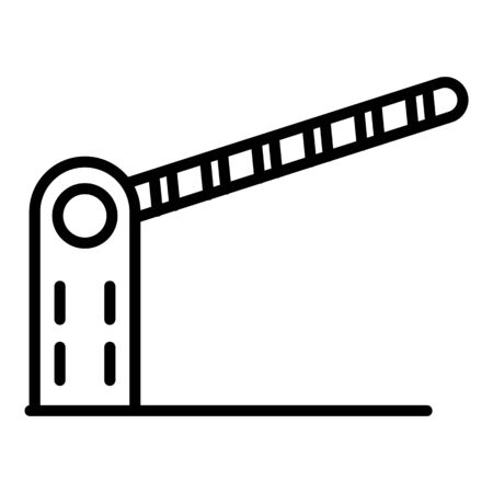 Barrier icon, outline style 일러스트