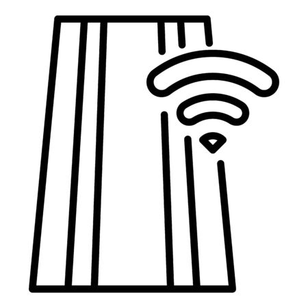 Wifi on road icon, outline style Ilustracja