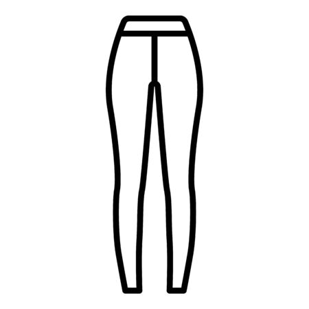 Sport tights icon. Outline sport tights vector icon for web design isolated on white background