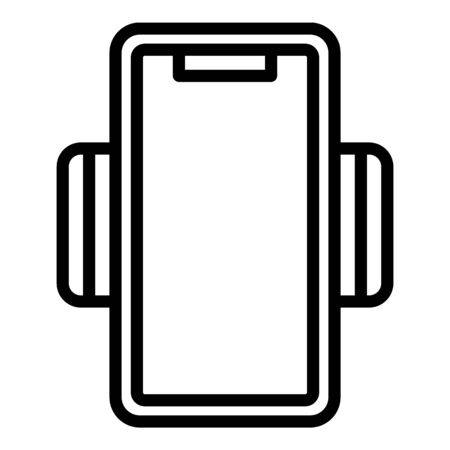 Plastic phone holder icon, outline style