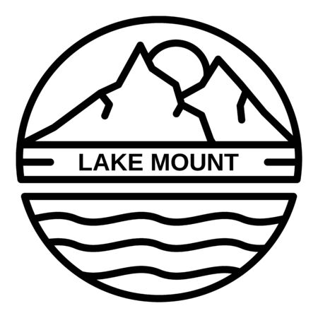 Lake mount  outline style